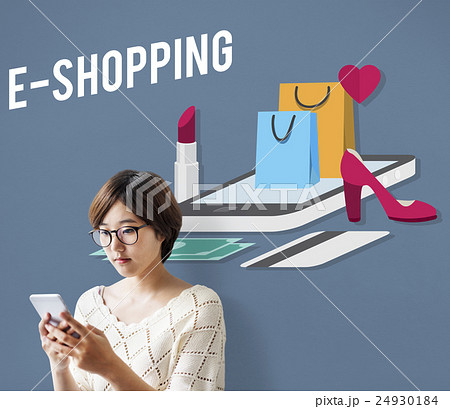 Shopping Online Shopaholics E-Commerce E-Shopping Concept 24930184