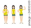 Woman Figure Fat Normal Slim. Vector 24933103