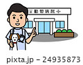 動物病院と医者と犬 24935873