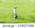 散歩 女性 草原の写真 24937486