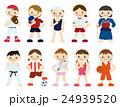 スポーツ 選手 子どものイラスト 24939520