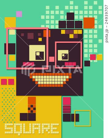 Poster Design Squareのイラスト素材 [24939707] - PIXTA