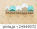 住宅とカレンダー 24940072