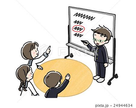 話し合い_ホワイトボード_ペン_制服 24944634