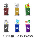 Diffrent waste recycling categories. Garbage bins 24945259