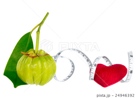 Garcinia fruit with red heart and measuring tapeの写真素材 [24946392] - PIXTA