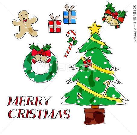 クリスマス素材手書き風
