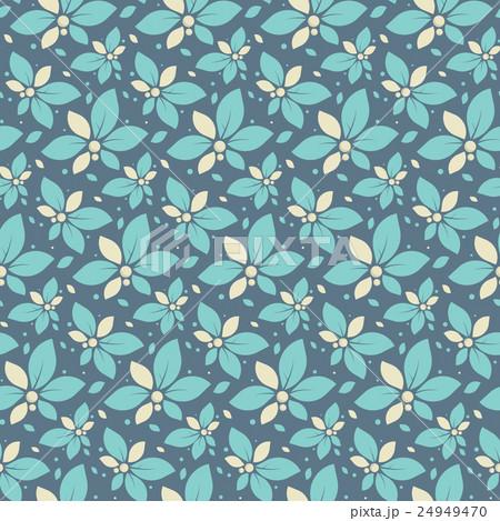 Dark seamless pattern with mint flowers 24949470