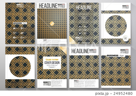 Set of business templates for brochure, flyer orのイラスト素材 [24952480] - PIXTA