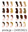 ヘアスタイル 女性 髪型のイラスト 24953621