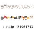 猫のボーダーのセット 24964743