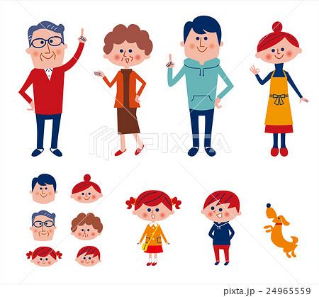 家族 6人と一匹 24965559