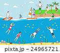 ダイビング 潜り 潜水のイラスト 24965721