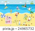 ビーチ 島 浮かぶ島のイラスト 24965732