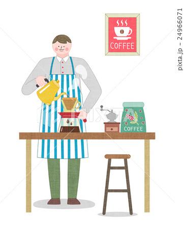バリスタ コーヒー 人のイラスト素材 24966071 Pixta
