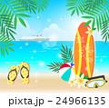 ビーチ 海 夏のイラスト 24966135