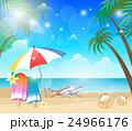ビーチ 海 夏のイラスト 24966176