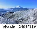 富士山と銀世界の樹氷風景 24967839