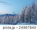 冬の早朝 三ツ峠からの富士山と樹氷風景 24967840