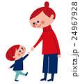 親子 手をつなごうとしている母と子 24967928