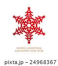 クリスマス クリスマスツリー 雪の結晶のイラスト 24968367