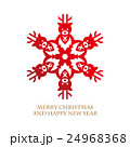 Design of reindeer shaped snowflake 24968368