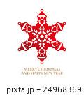 クリスマス サンタクロース 雪の結晶のイラスト 24968369