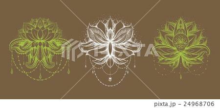 Vector ornamental Lotus setのイラスト素材 [24968706] - PIXTA