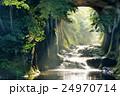 濃溝の滝 朝の光と水の流れ 24970714