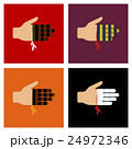 assembly flat icons bloody hand 24972346