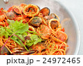 注意)湯気はレタッチ合成です。ペスカトーレ(イタリアン料理/魚介トマトソースパスタ)。 24972465