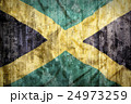 Grunge style of Jamaica flag on a brick wall 24973259