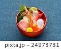 海鮮丼イメージ(ボタン海老、マグロ大トロ、赤身、ハマチ、イカ、イクラ、帆立) 24973731