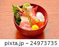 海鮮丼イメージ(ボタン海老、マグロ大トロ、赤身、ハマチ、イカ、イクラ、帆立) 24973735