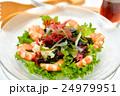 海藻サラダ(生ワカメ、ボイル海老他)、醤油ドレッシングを添えて。 24979951