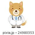 医者 犬 獣医 イラスト 24980353