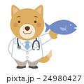 医者 犬 獣医 イラスト 24980427