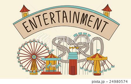 Entertainment Charm Enjoyment Thinking Act Conceptのイラスト素材 [24980574] - PIXTA