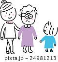 介護 三世代家族 散歩 24981213
