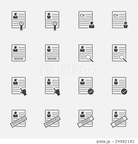 cv curriculum vitae resume vector buttons setのイラスト素材