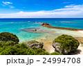 海岸、風景、沖縄。 24994708