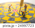 Concept of missed target business strategy. 24997723