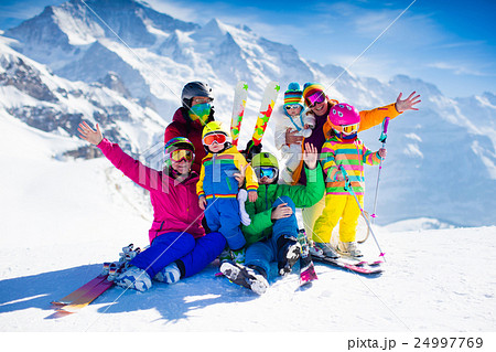Family with kids in the mountains 24997769