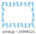 スポーツ フレーム 子どものイラスト 24998121