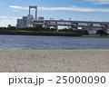 お台場海浜公園から見たレインボーブリッジ 25000090