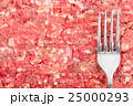 Fresh raw minced meat with fork 25000293