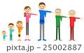 家族 三世代家族 体操のイラスト 25002887