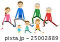 家族 三世代家族 体操のイラスト 25002889