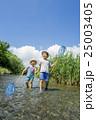 兄弟 男の子 小川の写真 25003405