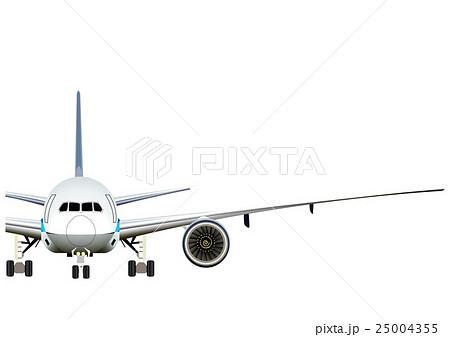 飛行機 正面半分のイラストのイラスト素材 25004355 Pixta